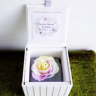 Or paradise - Macarons do not withered rainbow rose gift box Valentine's Day limited edition - Preserved flower rainbow rose gift box