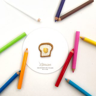 Littdlework Mini Embroidered Badge | Neckline Chapter | Toast