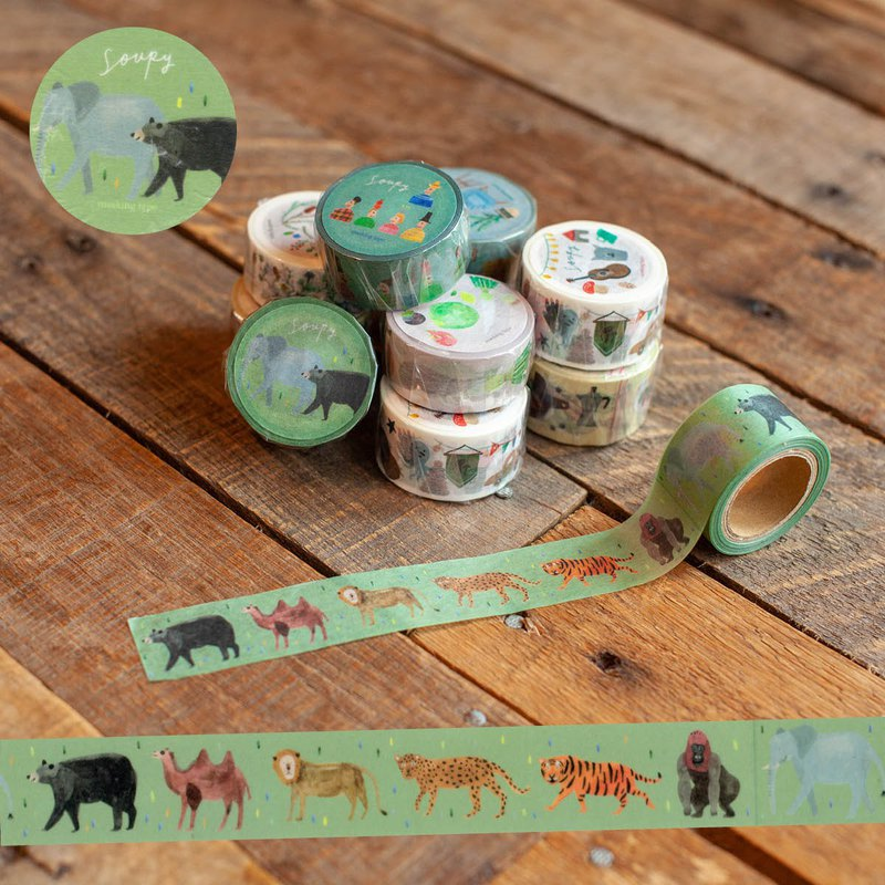 Wild animal tape tape Animals masking tape