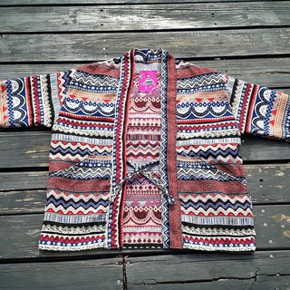AMIN'S SHINY WORLD handmade custom KIMONO color ethnic persian cloth jacquard hood coat coat