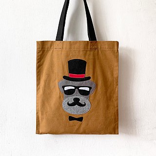 Smart Dog, Tote bag - handmade