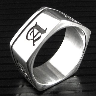 Customized .925 sterling silver jewelry RP00010- polygonal ring (pentagonal rings)