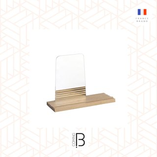 comingB (French), MIRROR STRIA W/TRAY NATURAL
