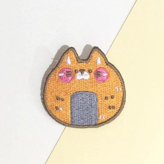 Dog clip star / original embroidery pin / Xianbei cat