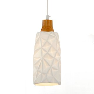 Grid-shaped transparent ceramic chandelier