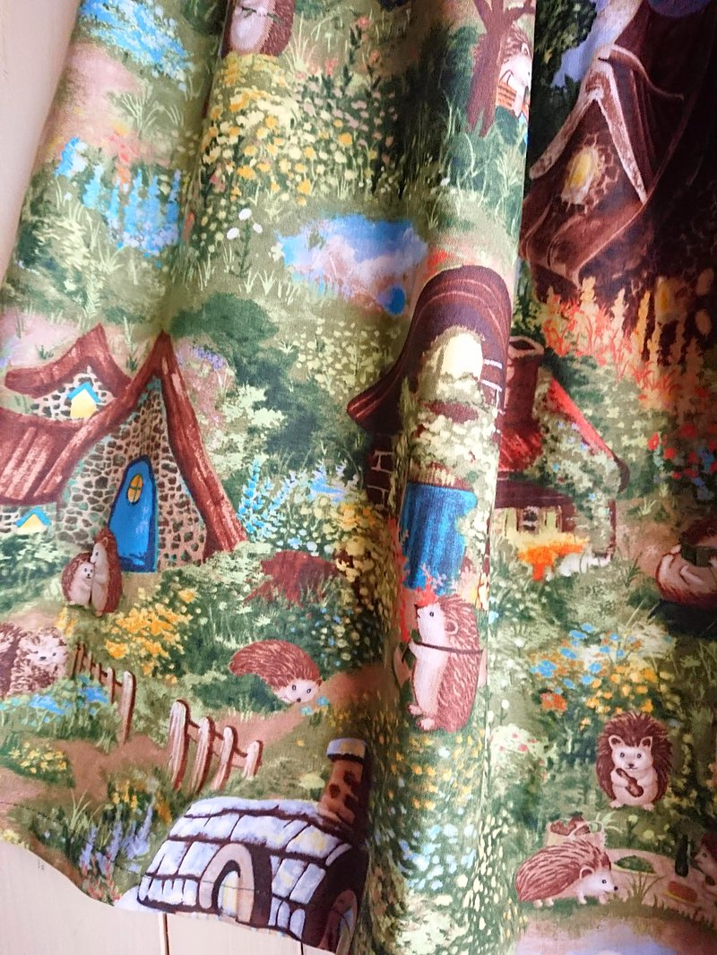 【Made to order】Hedgehog Village Skirt / made in JAPAN / USA fabric /