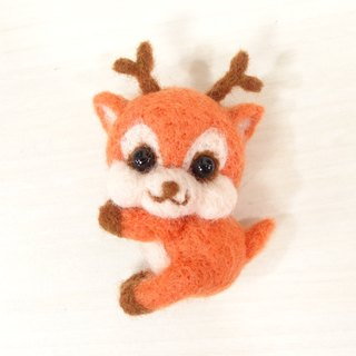 reindeer- Wool felt  (key ring or Decoration)
