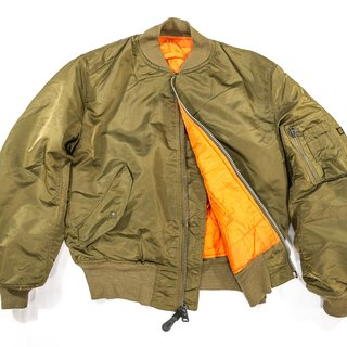 [3thclub Ming Ren Tang] alpha MA-1 USA Air Force coat brown-green vintage ma1-002