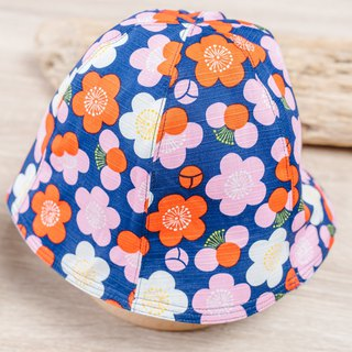 Double-sided fisherman hat - Mei の flower children's clothing newborn baby newborn parent-child cap