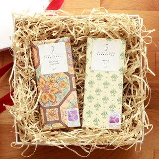 JP Bean To Bar Chocolate Two-piece gift set made of cocoa beans
