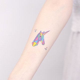Surprise Tattoos /  Fantasy Unicorn Temporary Tattoo