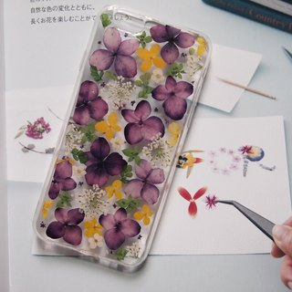 Pressed flowers phone case, Fit for iPhone 6, iPhone 6s, purple color