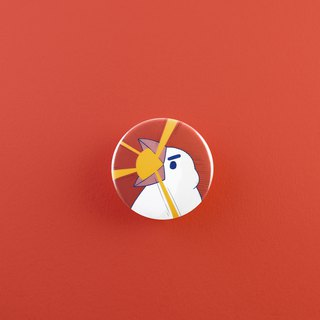 Art Bird Laser Gun badge / badge / pin / brooch