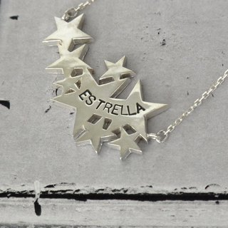 Stardust necklace / silver