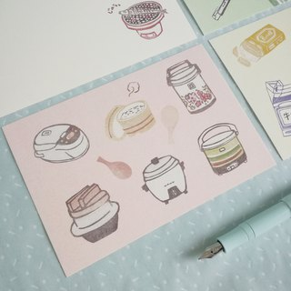 Stamp print postcard set A