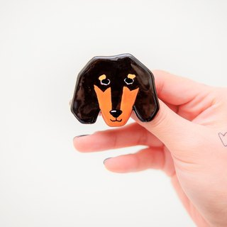 Pet wool baby animal series / Dachshund い ぬ dog pin / brooch