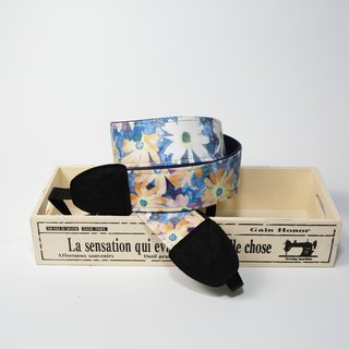 Pu.sozo cloth hand flower Yang (blue) double strap hole camera / camera straps / camera rope / camera / camera