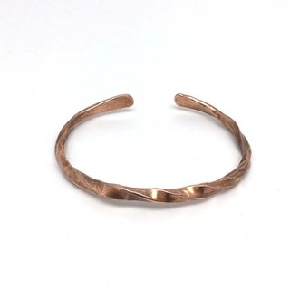 Pure copper hand forged bracelet