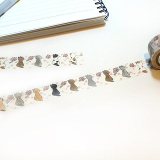 Cat illustration paper tape