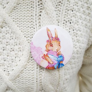 Huaqun oversized rabbit pin badges