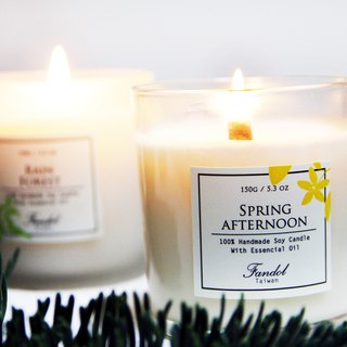 Spring afternoon essential oil soy candle (large) | sweet fruit <send 10cm match a box> to remove musty moisture