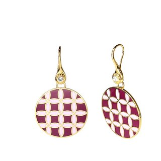 Op Art Wen-Ying Tsai Cloisonne Earrings (gold) -18,103,151,091