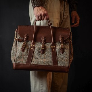 HEYOU Handmade –Well-Dressed Satchel Limited Edition UK Harris Tweed