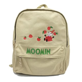 Moomin 噜噜米授权- New style zipper backpack (Kaki)