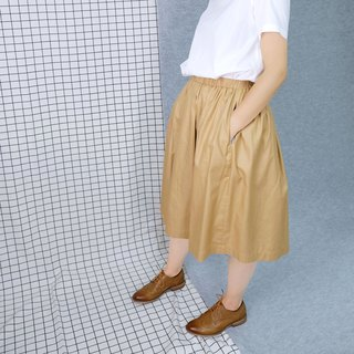 hikidashi double-sided wear round skirt - khaki