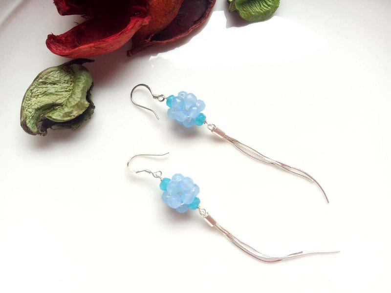 Natural Gemstone ~ Aquamarine Sterling Silver Earrings