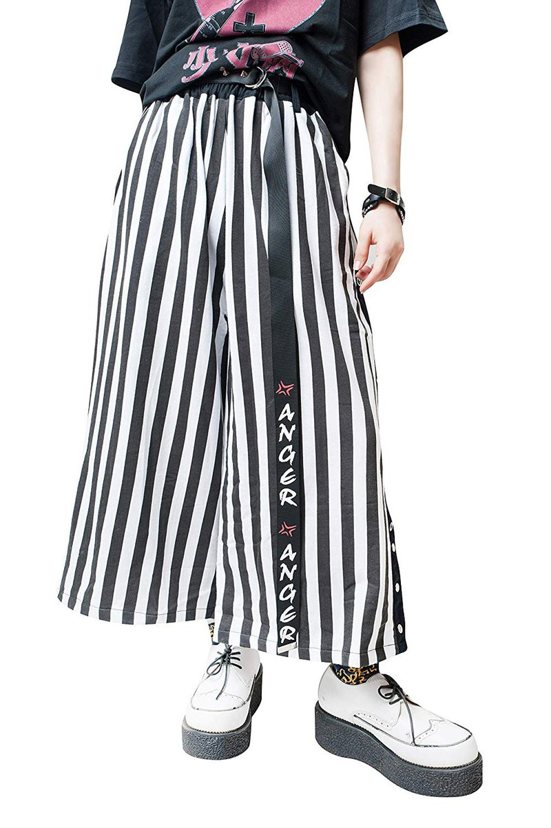 Japan street punk contemporary samurai waist sash wide leg capri pants【JAG0024】