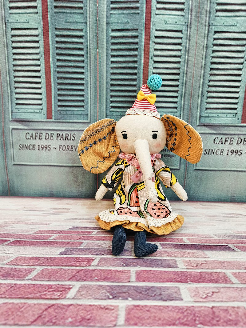 Handmade Elephant Doll- Cute Elly in Yellow
