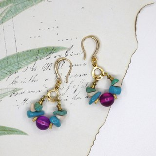 purple amethyst earrings for clip