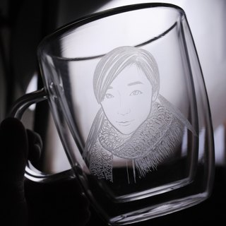 375cc [girl portrait custom-made cup double insulated cup double hand forest] is not hot mug King