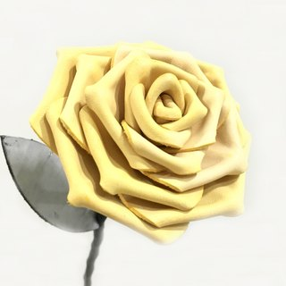 Leather frost yellow roses