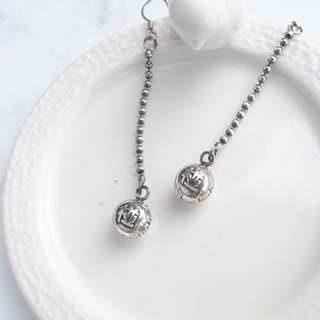 Big staff Taipa [manual Tainan specialty] good luck (pregnancy) 椪 sterling silver earrings wish good luck pregnant