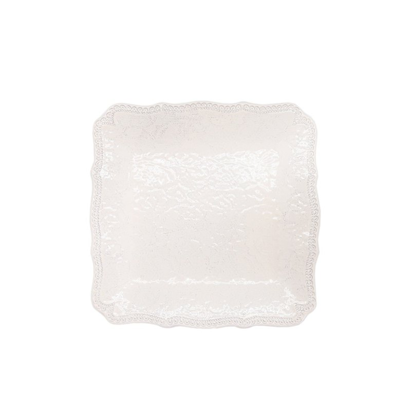 MERLETTO - 24 CM SQUARE PLATE (CREAM)