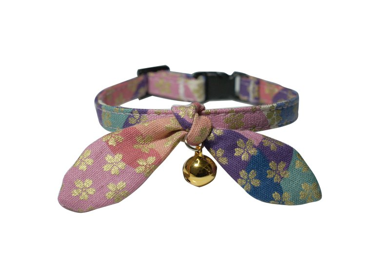[AnnaNina] Pet Dog Collar Sakura Three Colors Kelly Towel S~2L