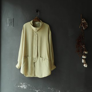 Heshui Mountain - Aichi Apple Green Collar Sentimental Love Song Antique Thin Material Sun Protective Top Jacket Blouse