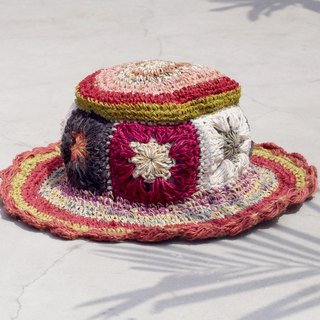 Valentine's Day gift limited to a hand-woven cotton / cotton hat / hat / fisherman hat / straw hat / sun hat / hook hat - tropical rain forest flowers