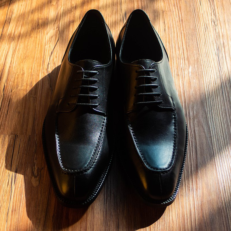 REGENT 典雅裙飾德比-黑/ Apron Toe Derby-Black