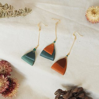 Febbi geometric cowhide earrings