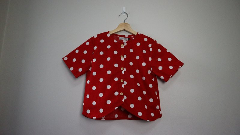 hawen top  in  polkadot
