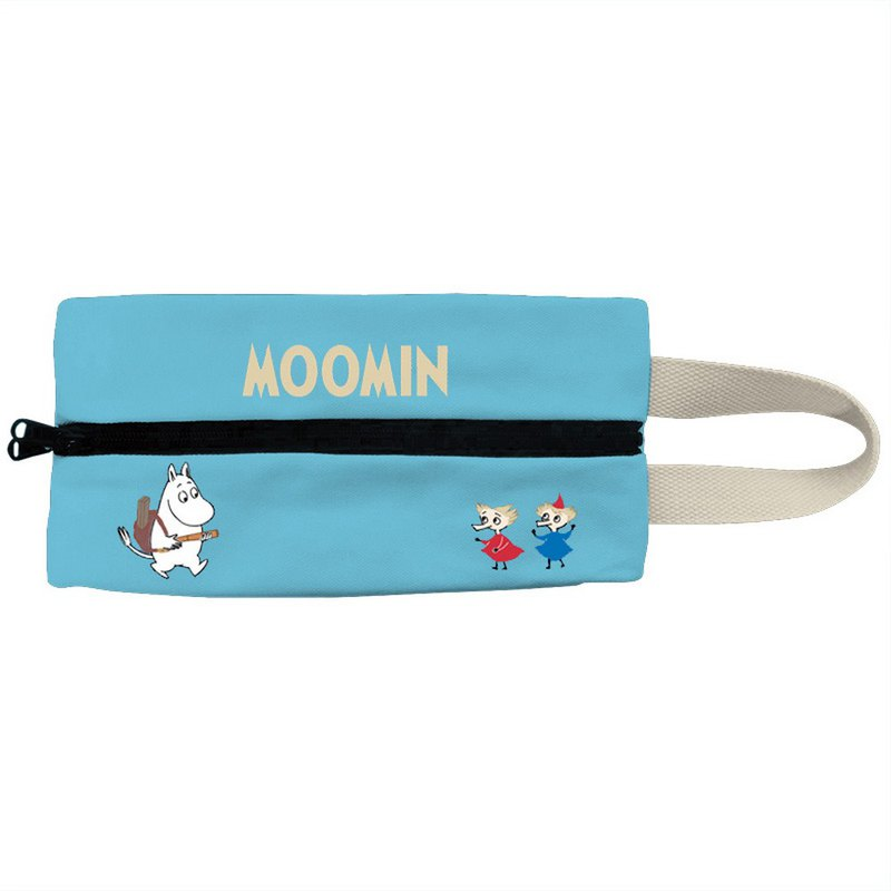 Moomin 噜噜 米 Authorization-Multifunctional Glossy Paper Bag (Water Blue)