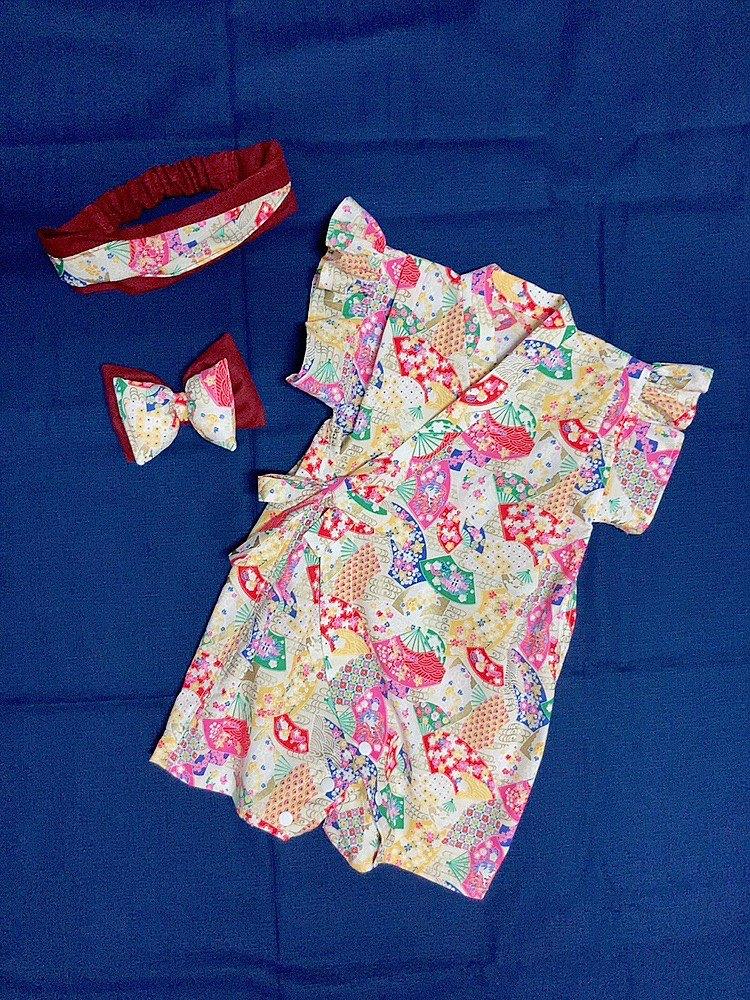 彌月禮盒 寶寶浴衣 連身包屁衣 手工訂製
