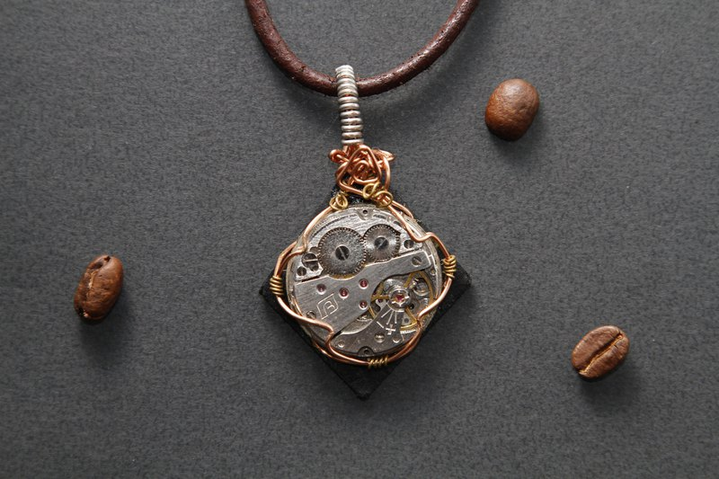 【Series of Crystal】Steampunk pendant