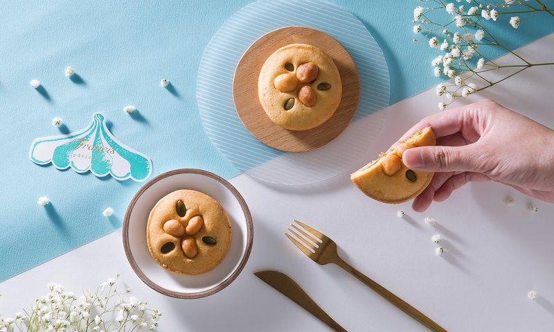 Pineapple Filled Cookies with Macadamia Nuts (4 pcs)