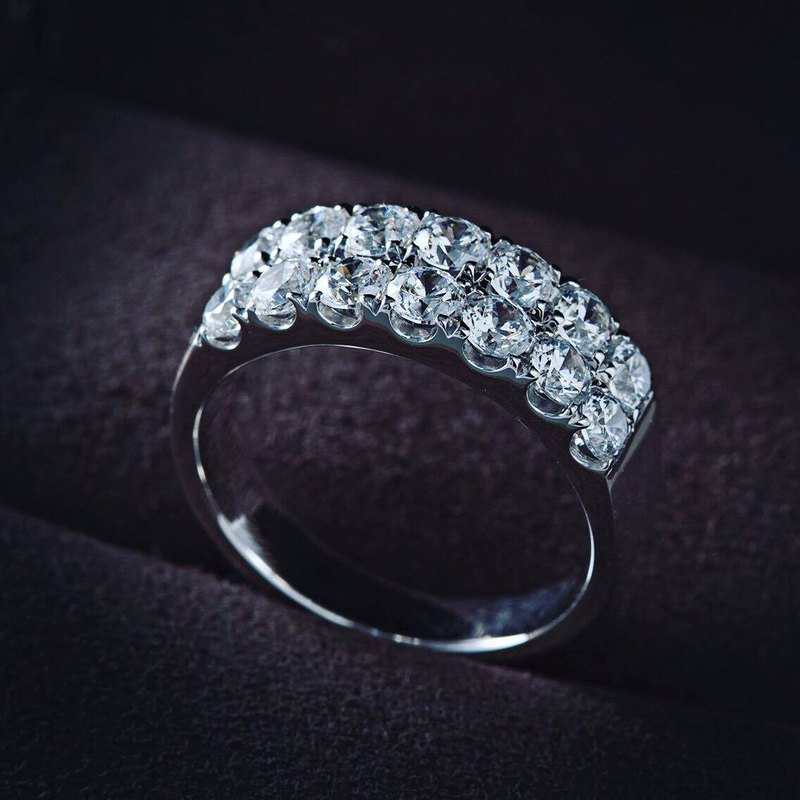 Frankness|18K白金永恆鑽石婚戒BL1021|玫瑰金/鑽戒/情侶/訂製/客製化