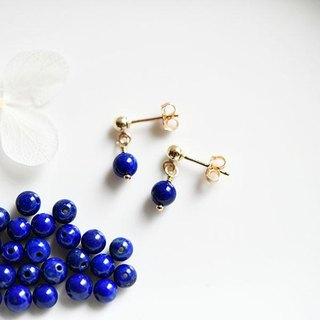 Lapis lazuli grain earrings earrings accepted December birthstone lucky and amulet success luck