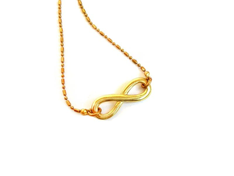 [UNA- excellent Na] selling hand-made brass infinite love short necklace customized